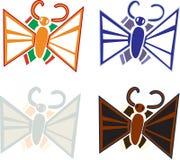 Gulliga malar och fjärilar royaltyfri illustrationer