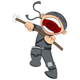 Gulliga Ninja Cartoon stock illustrationer