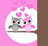 gulliga owls stock illustrationer