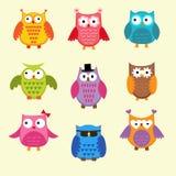 Gulliga owls Royaltyfri Fotografi
