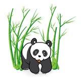Gulliga Panda Bear i bambu Forrest 04 Arkivbilder