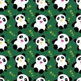 gulliga pandas mönsan seamless Royaltyfri Bild