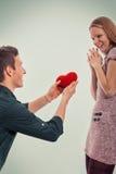 Gulliga par för valentin Royaltyfri Foto