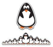 gulliga pingvin för folkmassa royaltyfri illustrationer