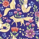 gulliga rävar stock illustrationer