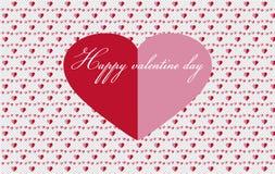 Gulliga röda och rosa hjärtor stock illustrationer