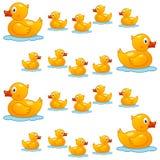 Gulliga Rubber Duck Seamless Pattern Royaltyfria Bilder