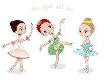 Gulliga små ballerina vektor illustrationer