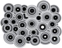 Gulliga små och stora cirklar royaltyfri illustrationer