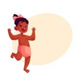 Gulliga små behandla som ett barn flickan som lyckligt dansar Arkivfoton
