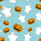 Gulliga spökar och sömlösa stålarnolla-lyktor Royaltyfria Bilder