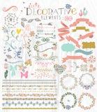 Gulliga stilfulla dekorativa beståndsdelar Royaltyfria Foton