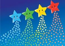 Gulliga stjärnor Fotografering för Bildbyråer
