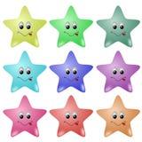 gulliga stjärnor Royaltyfri Fotografi
