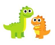 Gulliga tecknad filmdinosaurs royaltyfri illustrationer