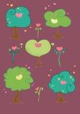 gulliga trees för fågelsammansättning Arkivbilder