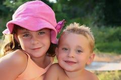 gulliga ungar Royaltyfria Bilder