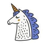 Gulliga Unicorn Vector Arkivbilder