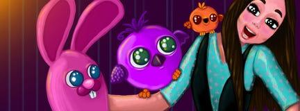 gulliga varelser stock illustrationer