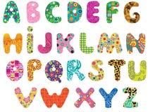 Gulligt alfabet stock illustrationer