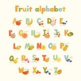 Gulligt alfabet för full vektor för ungar i ljusa färger Arkivbilder