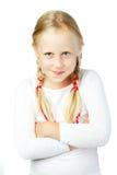 Gulligt barn, rolig framsida Fotografering för Bildbyråer