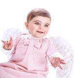 Gulligt behandla som ett barn ängeln Arkivfoton