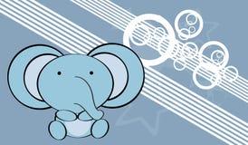 Gulligt behandla som ett barn elefantbakgrund Arkivbild