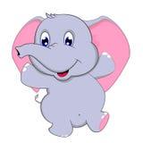 Gulligt behandla som ett barn elefantdansen Fotografering för Bildbyråer