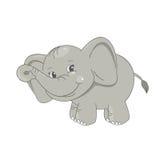 Gulligt behandla som ett barn elefanten stock illustrationer