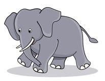Gulligt behandla som ett barn elefanten Royaltyfri Bild