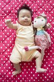 Gulligt behandla som ett barn flicka 11 Royaltyfri Foto
