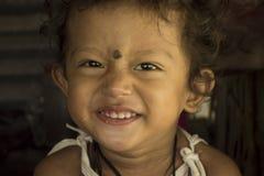 Gulligt behandla som ett barn flickan Royaltyfri Bild