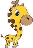 Gulligt behandla som ett barn giraffet med blåa ögon Royaltyfria Bilder