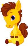 Gulligt behandla som ett barn hästtecknade filmen Royaltyfria Foton