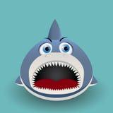 Gulligt behandla som ett barn hajen Arkivfoton
