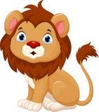 Gulligt behandla som ett barn lejontecknad filmsammanträde Arkivfoto