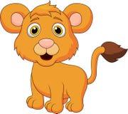 Gulligt behandla som ett barn lejontecknade filmen Arkivfoton