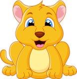 Gulligt behandla som ett barn lejontecknade filmen Royaltyfri Foto
