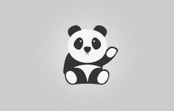 Gulligt behandla som ett barn pandan av vektorn Arkivbilder