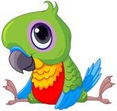 Gulligt behandla som ett barn papegojan vektor illustrationer