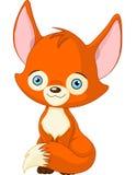 Gulligt behandla som ett barn räven Royaltyfri Foto