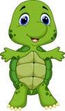 Gulligt behandla som ett barn sköldpaddatecknade filmen Royaltyfri Fotografi