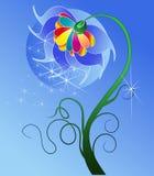 Gulligt blom- kort. Arkivbild