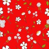 Gulligt blom- Seamless Royaltyfri Fotografi