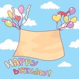 gulligt födelsedagkort Arkivfoton