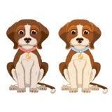 Beaglen förföljer Arkivbild