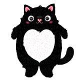 Gulligt fett katttecken stock illustrationer