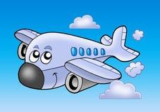 gulligt flyg för flygplan Arkivbilder