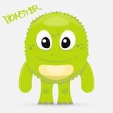 Gulligt grönt monster Royaltyfri Foto